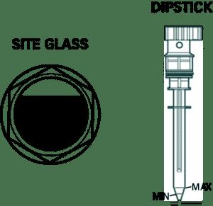Oil level checking dipstick