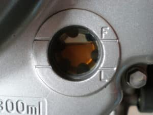 Oil Level sight glass without circular red mark