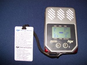 An example of an ultrasonic leak detector